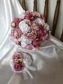 Saténové ruže-staroružové,pošta v cene,