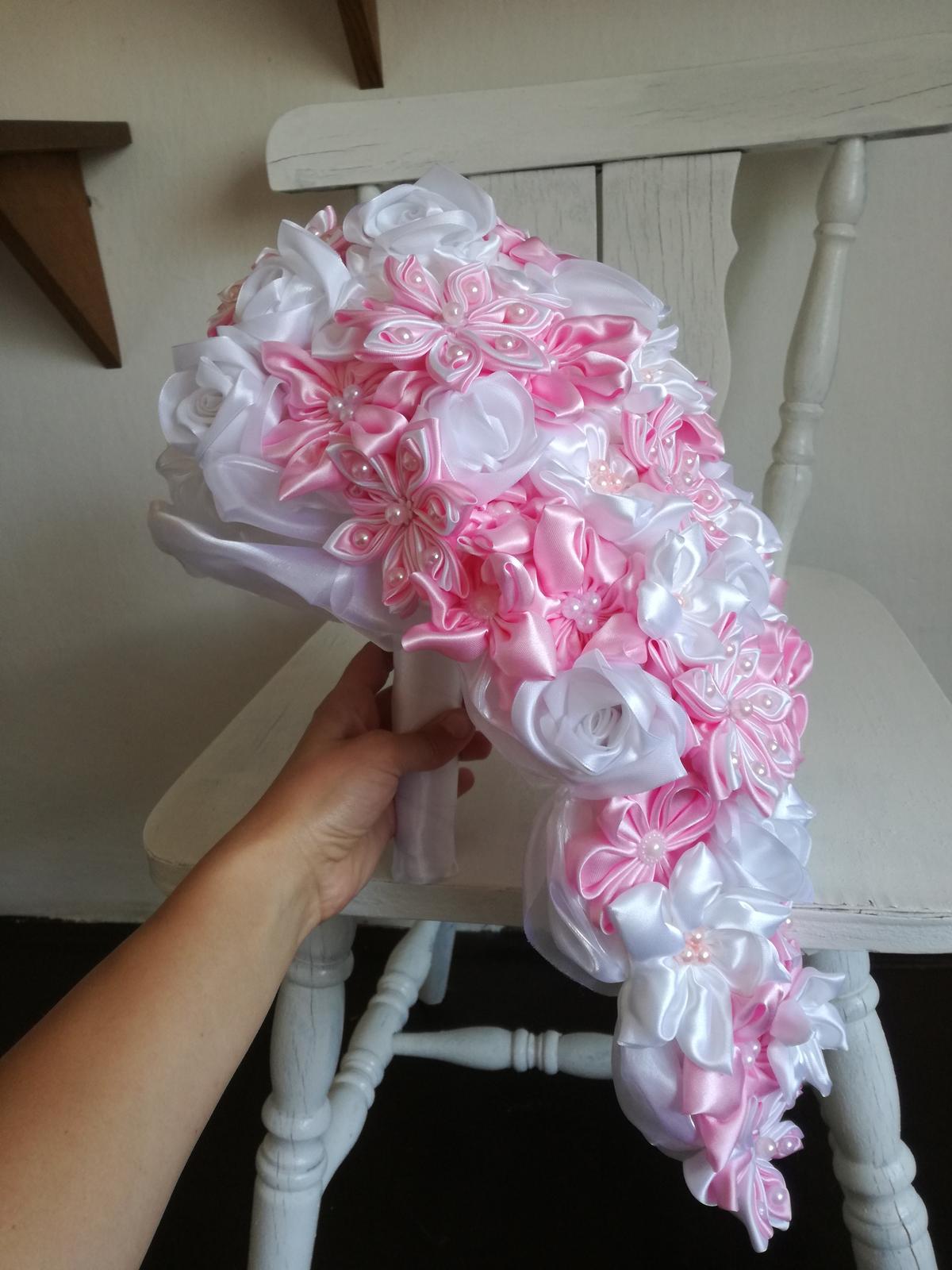 Ružovo biela previslá,pošta v cene - Obrázok č. 2