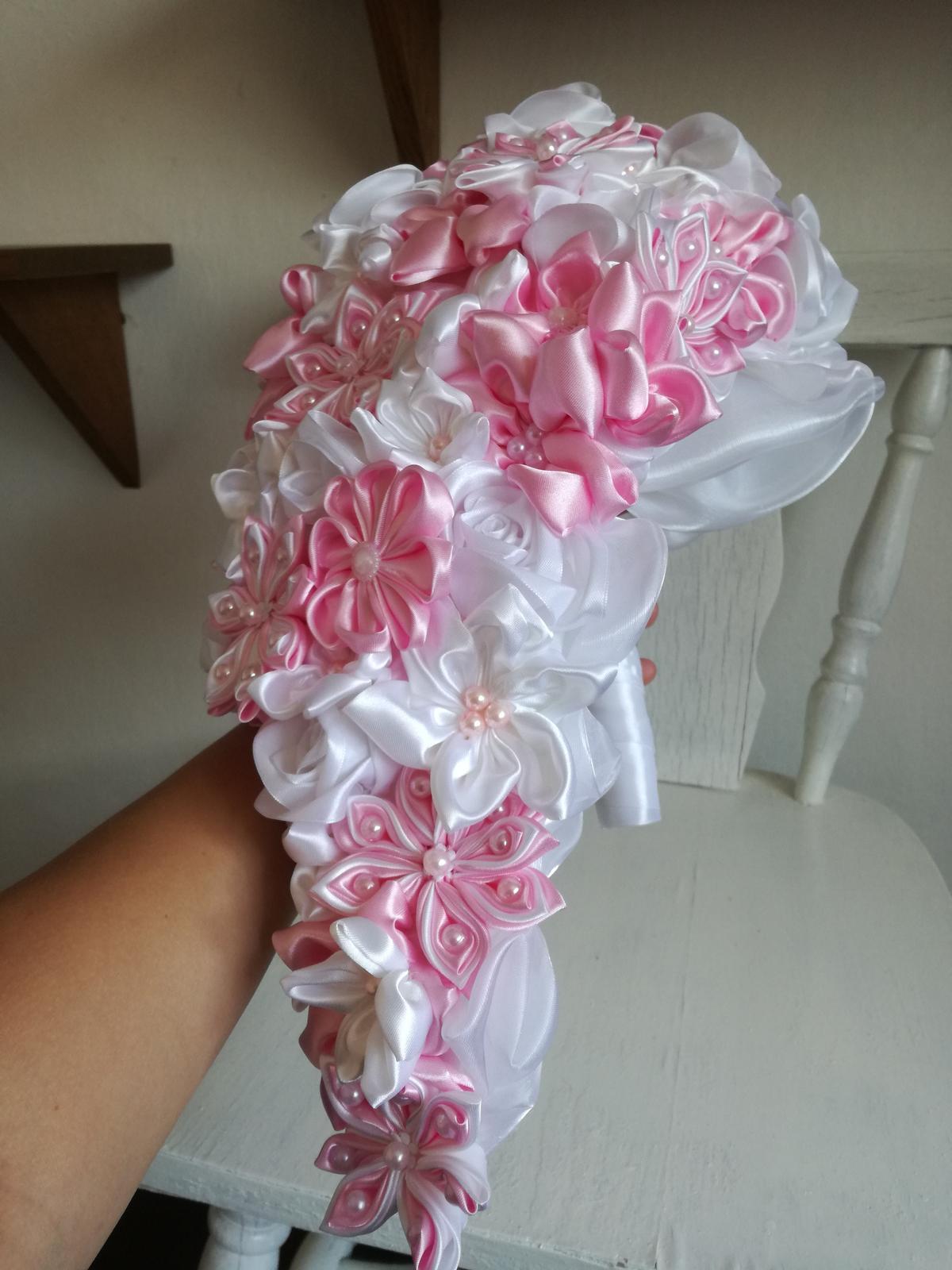 Ružovo biela previslá,pošta v cene - Obrázok č. 3