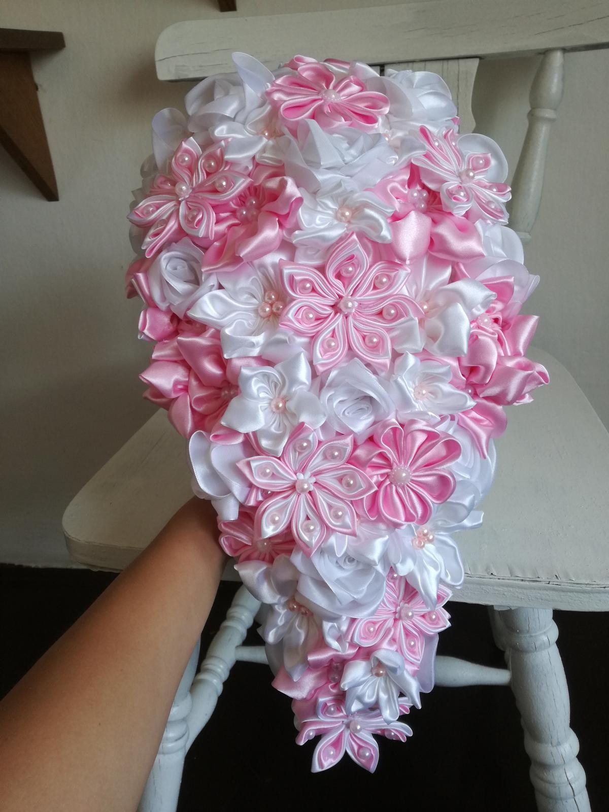 Ružovo biela previslá,pošta v cene - Obrázok č. 4