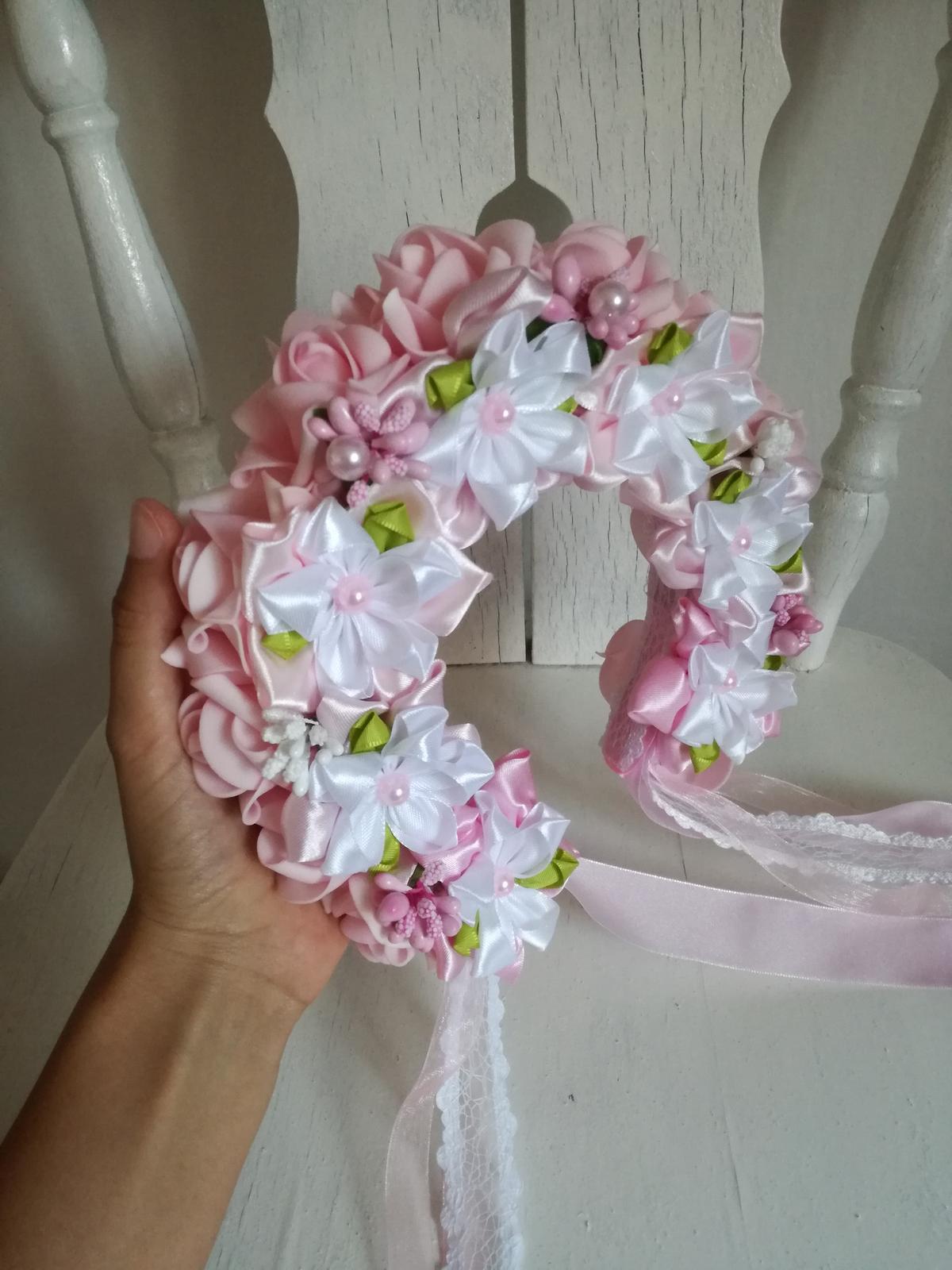 Ružovo biela parta,pošta v cene - Obrázok č. 3