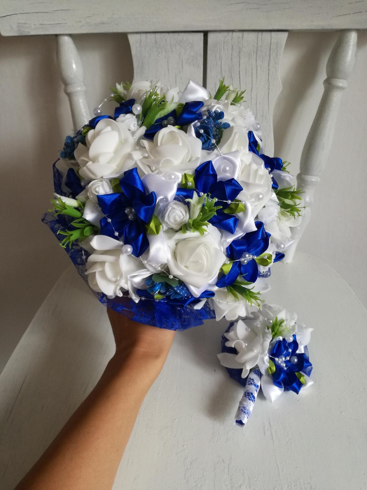 Kytica v kráľovsky modrej ,pošta v cene - Obrázok č. 1