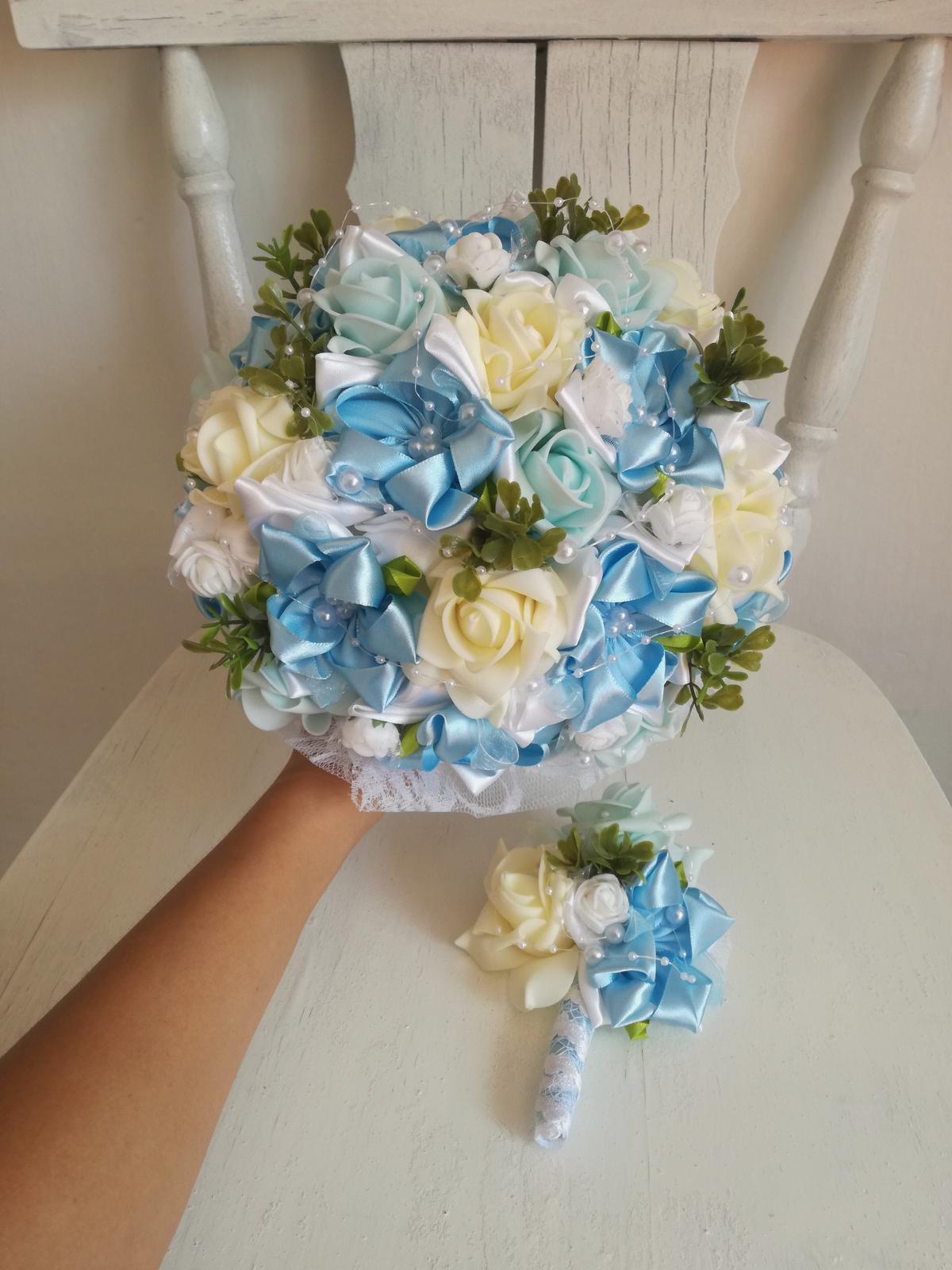 Romantická modrá kytica,pošta v cene - Obrázok č. 3