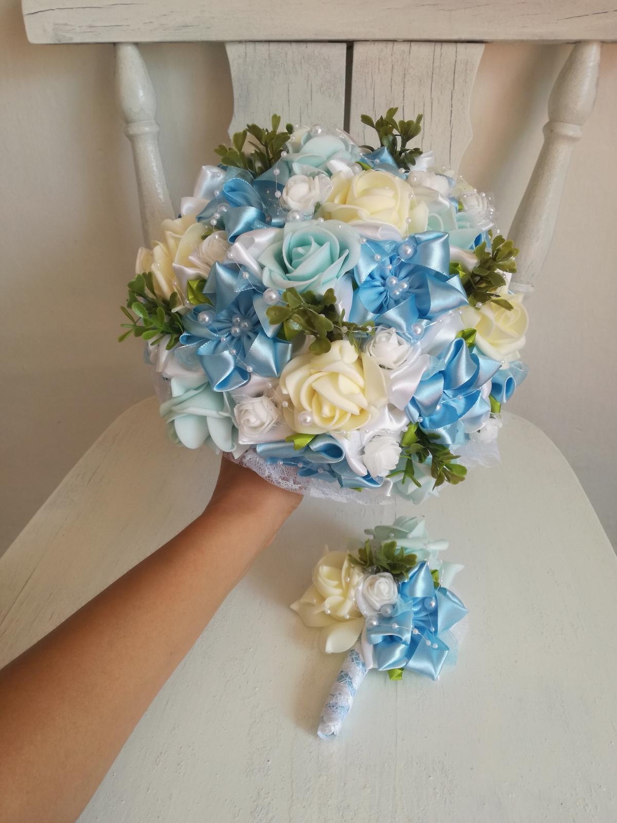 Romantická modrá kytica,pošta v cene - Obrázok č. 2