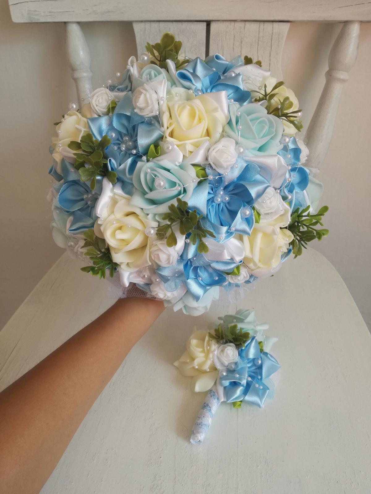 Romantická modrá kytica,pošta v cene - Obrázok č. 1