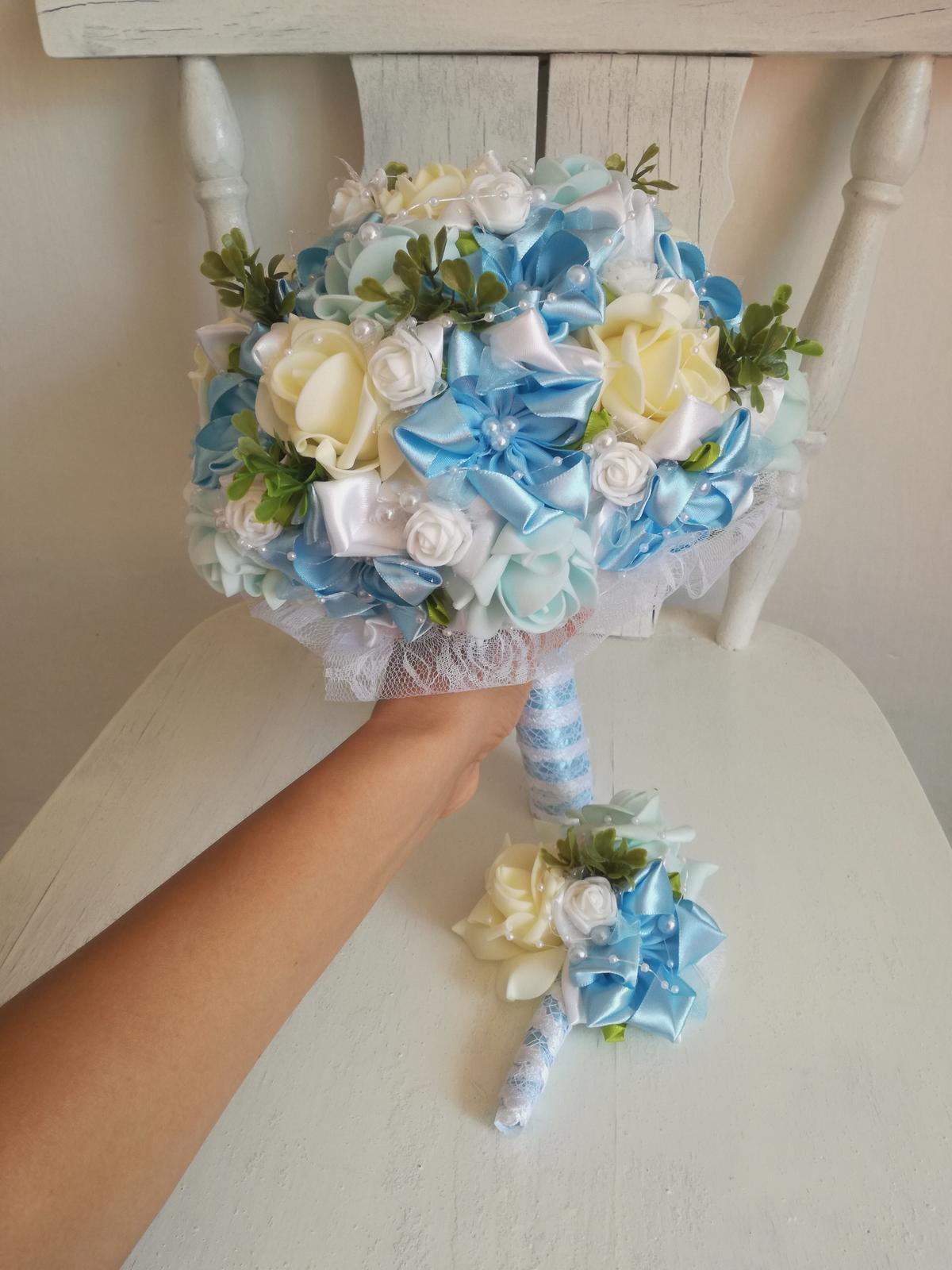 Romantická modrá kytica,pošta v cene - Obrázok č. 4
