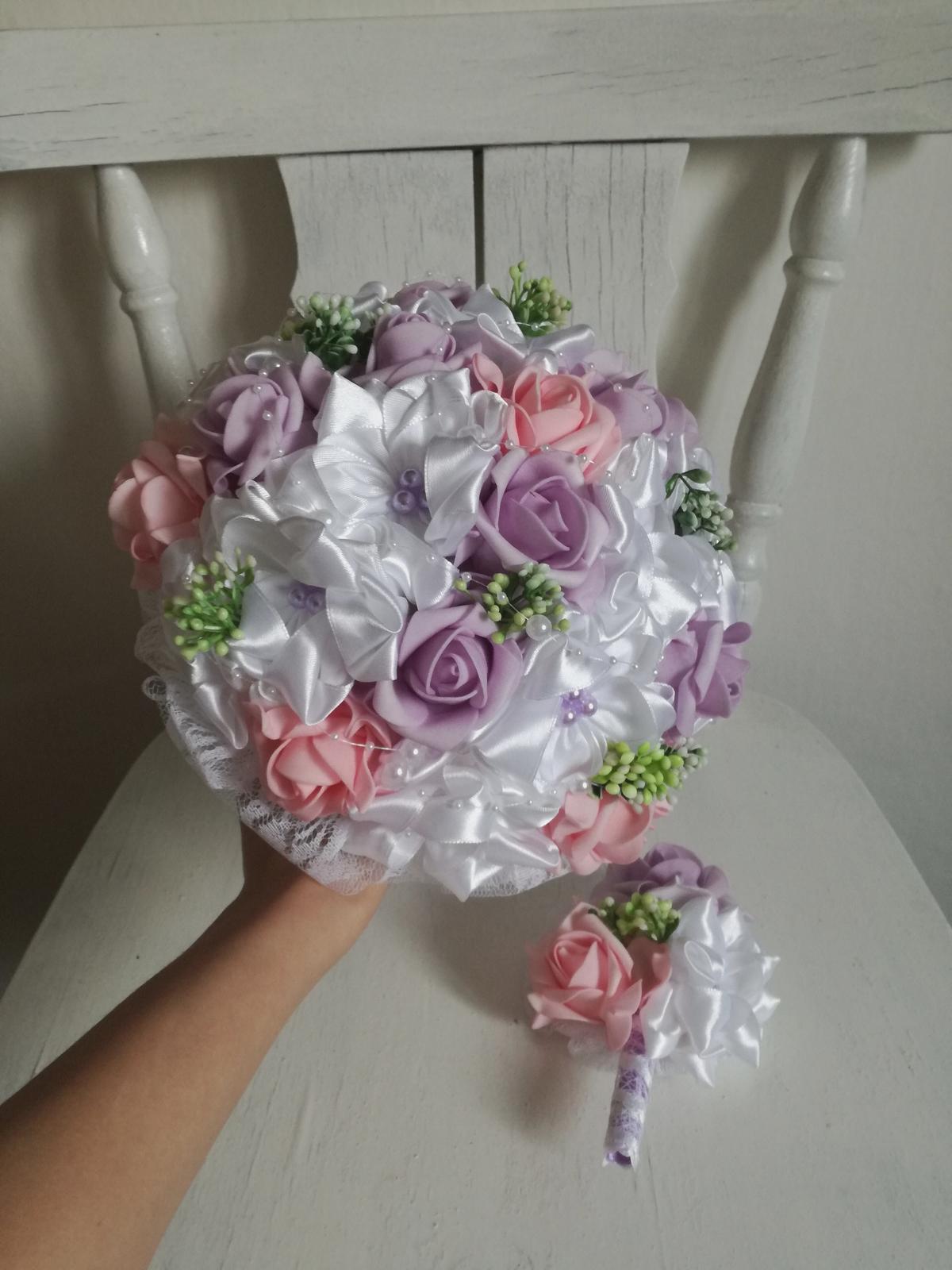 Fialovo ružová,pošta v cene - Obrázok č. 2