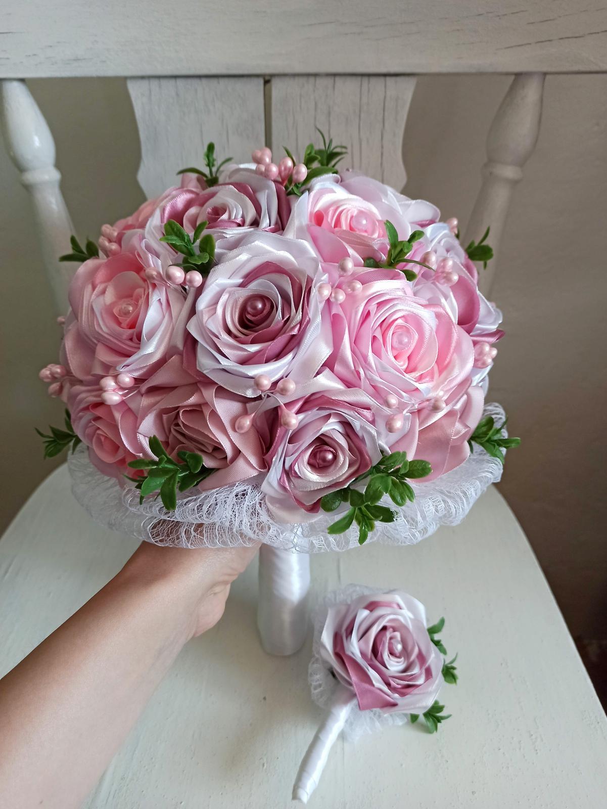 Rozkvitnutá ružová kytica,pošta v cene - Obrázok č. 4
