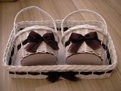 Svatební souprava - čokoládová (tmavě hnědá),