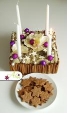 Ke skořicovému svícnu nesmí chybět skořicové sušenky :-)
