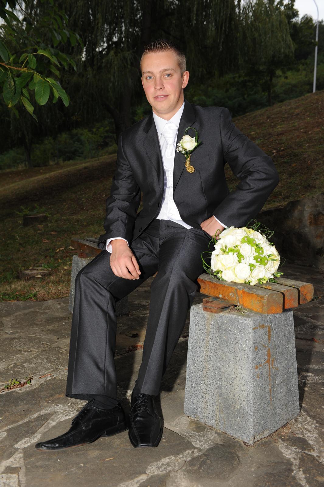Pánsky svadobný oblek - Obrázok č. 2