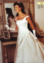 Moje svadobné šaty na modelke, raz darmo na modelke je na modelke . .