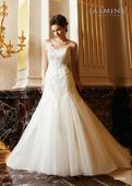 Jasmine- svatební šaty originál k půjčení, 38