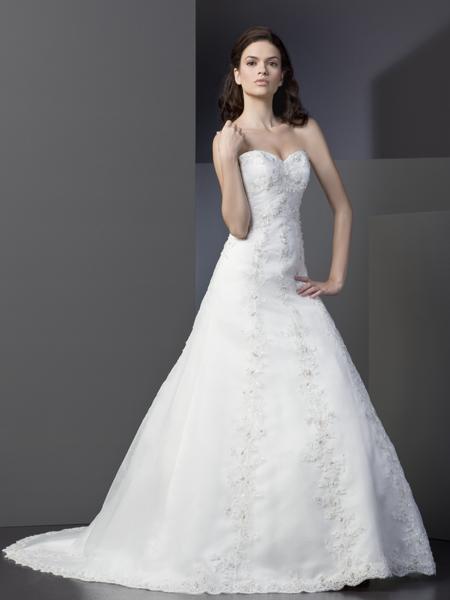 Svatební bílé krajkové šaty - Obrázek č. 1
