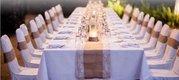 svatební potahy klasické na židle,