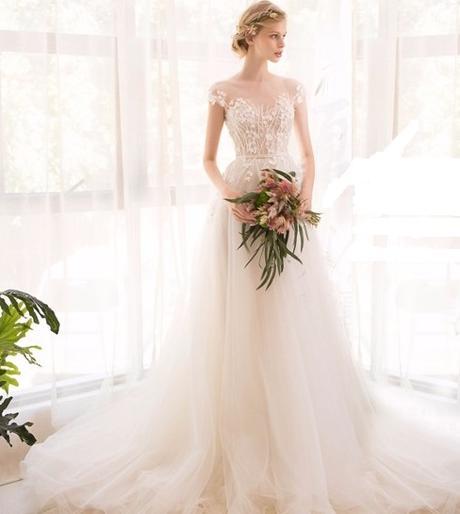 svatební šaty vel.38 bílá - Obrázek č. 1