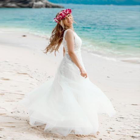 Svatební nebo družičkovské boho šaty vel.36 - Obrázek č. 1