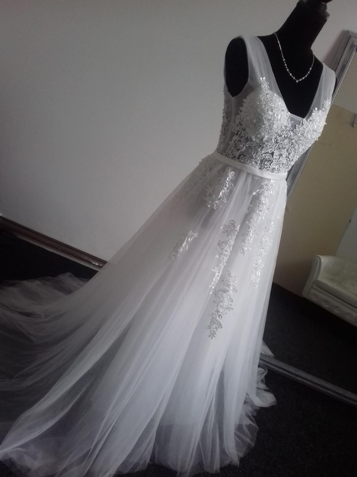 Nové svatební šaty vel 36 - Obrázek č. 1