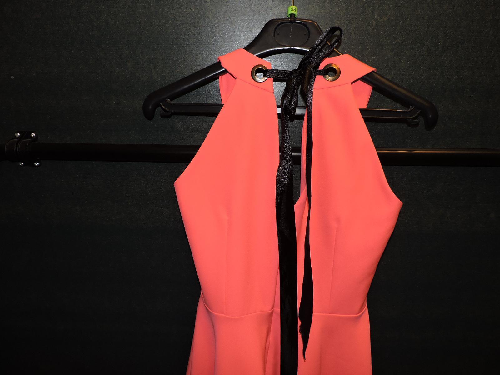 lososovo- rožovo neonove šaty - Obrázok č. 2