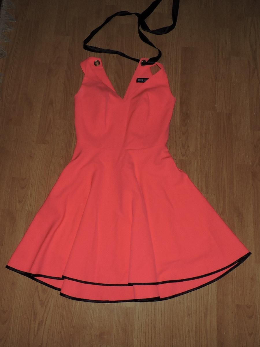 lososovo- rožovo neonove šaty - Obrázok č. 1