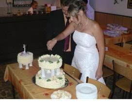 krájení dortíku...