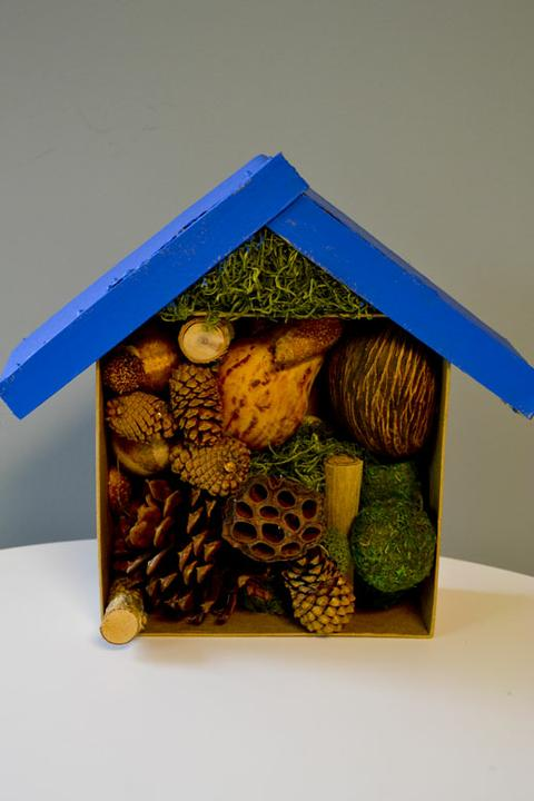 Zahradne inspiracie z netu - Domček pre chrobáčiky