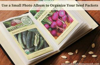 Album na fotky ako organizer na semienka