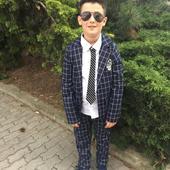 Chlapčenský oblek s košelou, 140