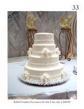 velmi decentní dort