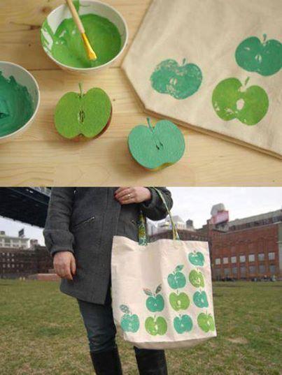 Dobré nápady - Efektní jablečná taška.