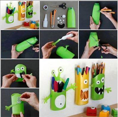 Dobré nápady - Jak zužitkovat nádobky od šamponů a sprcháčů a udělat radost dětem:-)