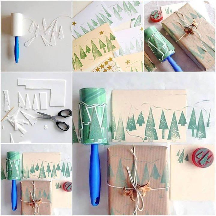 Dobré nápady - Tip na vlastnoručně zdobený vánoční papír.