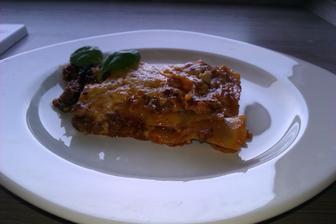 moje první lasagne...