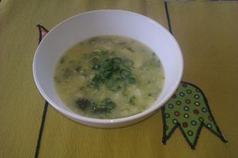 Jarní polévka z pórku,květáku a brokolice...