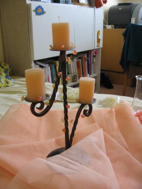 Nase pripravy, vyzdoba a rozne detaili zo svadby - * svietnik na hlavny stol