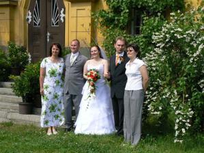 Bráška s manželkou a švagrová