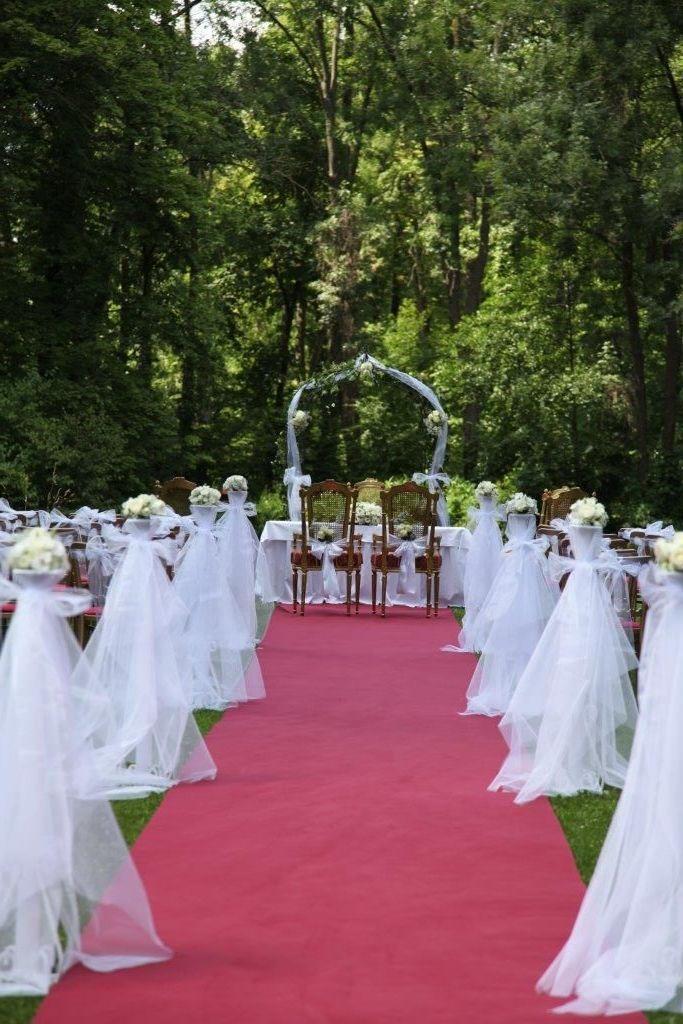 Svadba Edina a Philip na zámku Margarethen am Moos - Výzdoba obradu