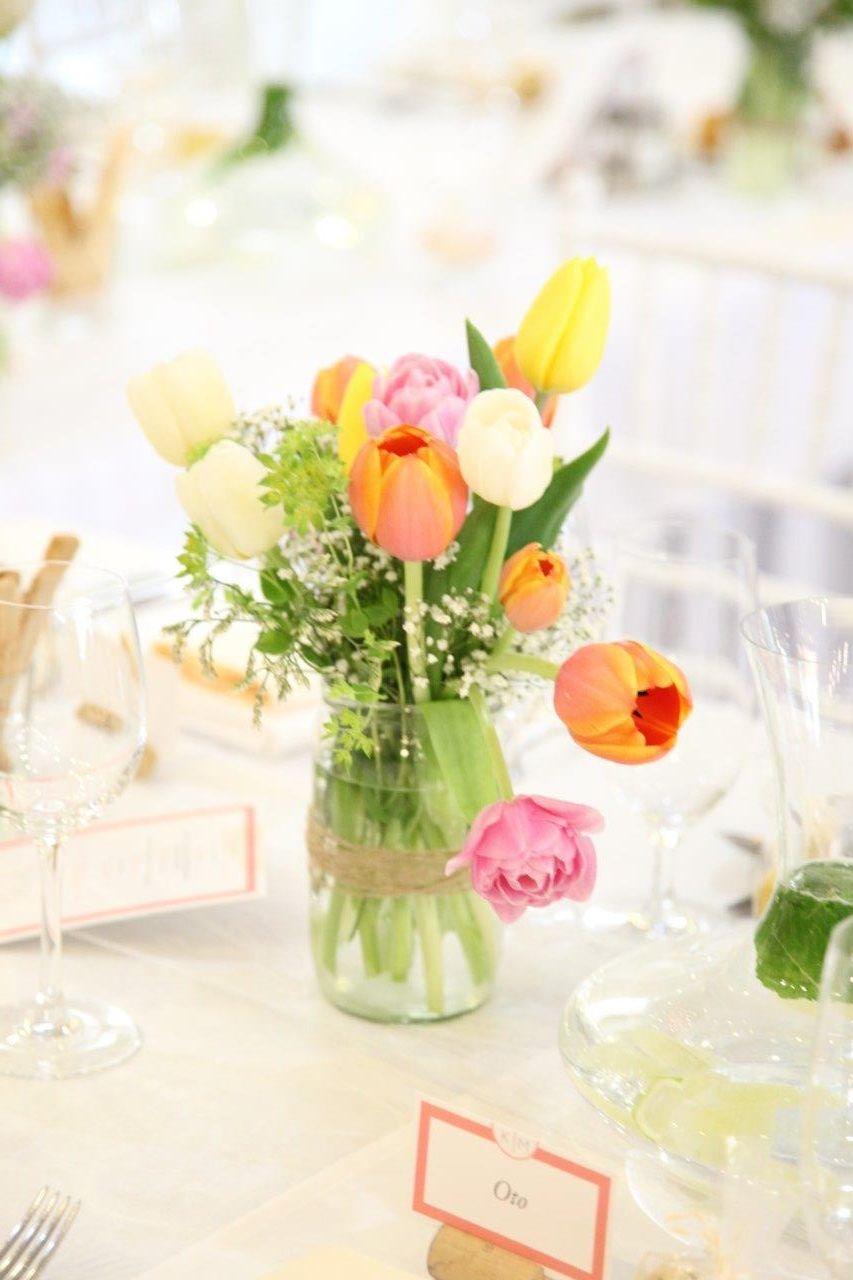 Svadobná výzdoba s tulipánmi - Obrázok č. 17
