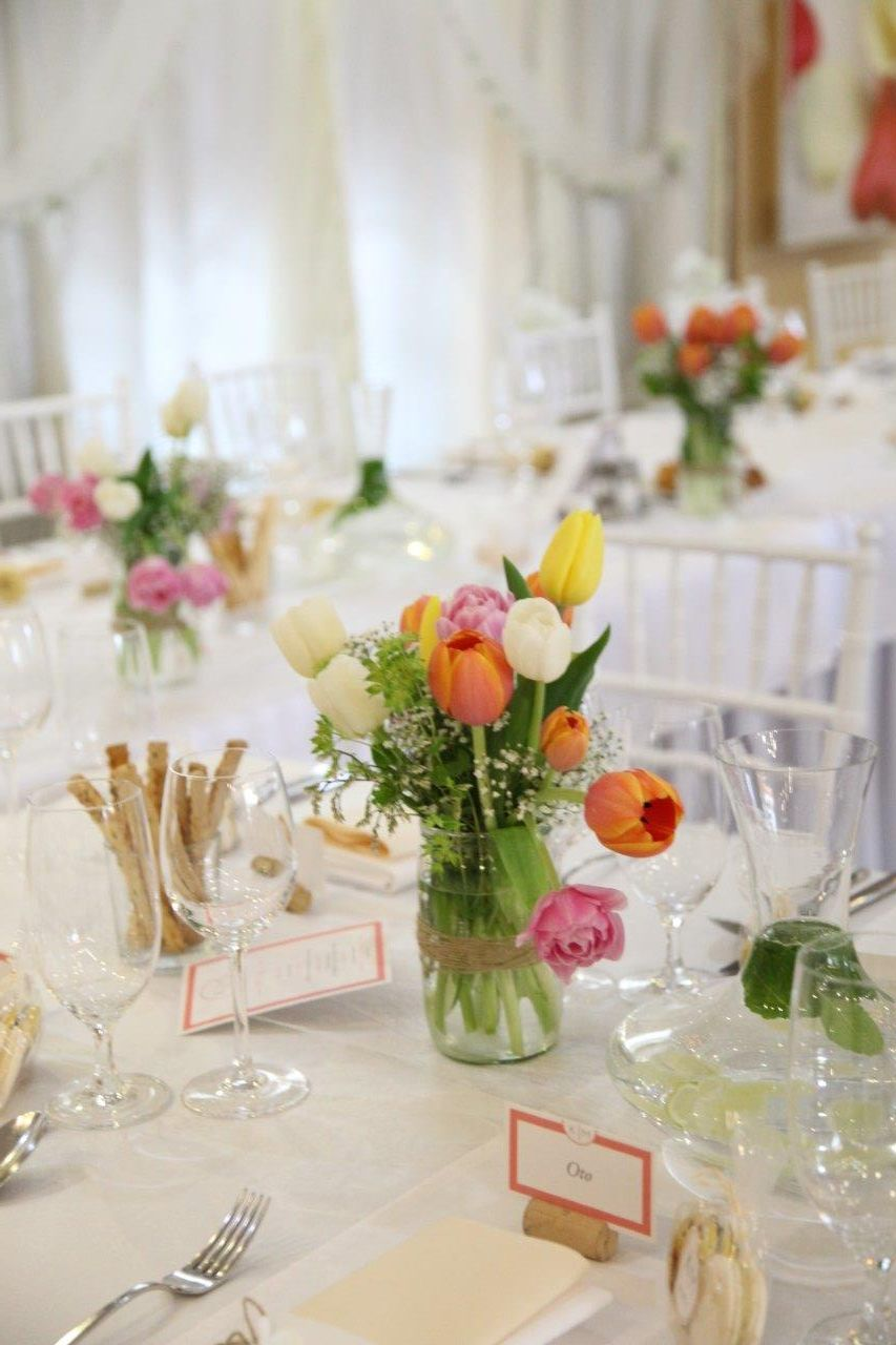 Svadobná výzdoba s tulipánmi - Obrázok č. 18
