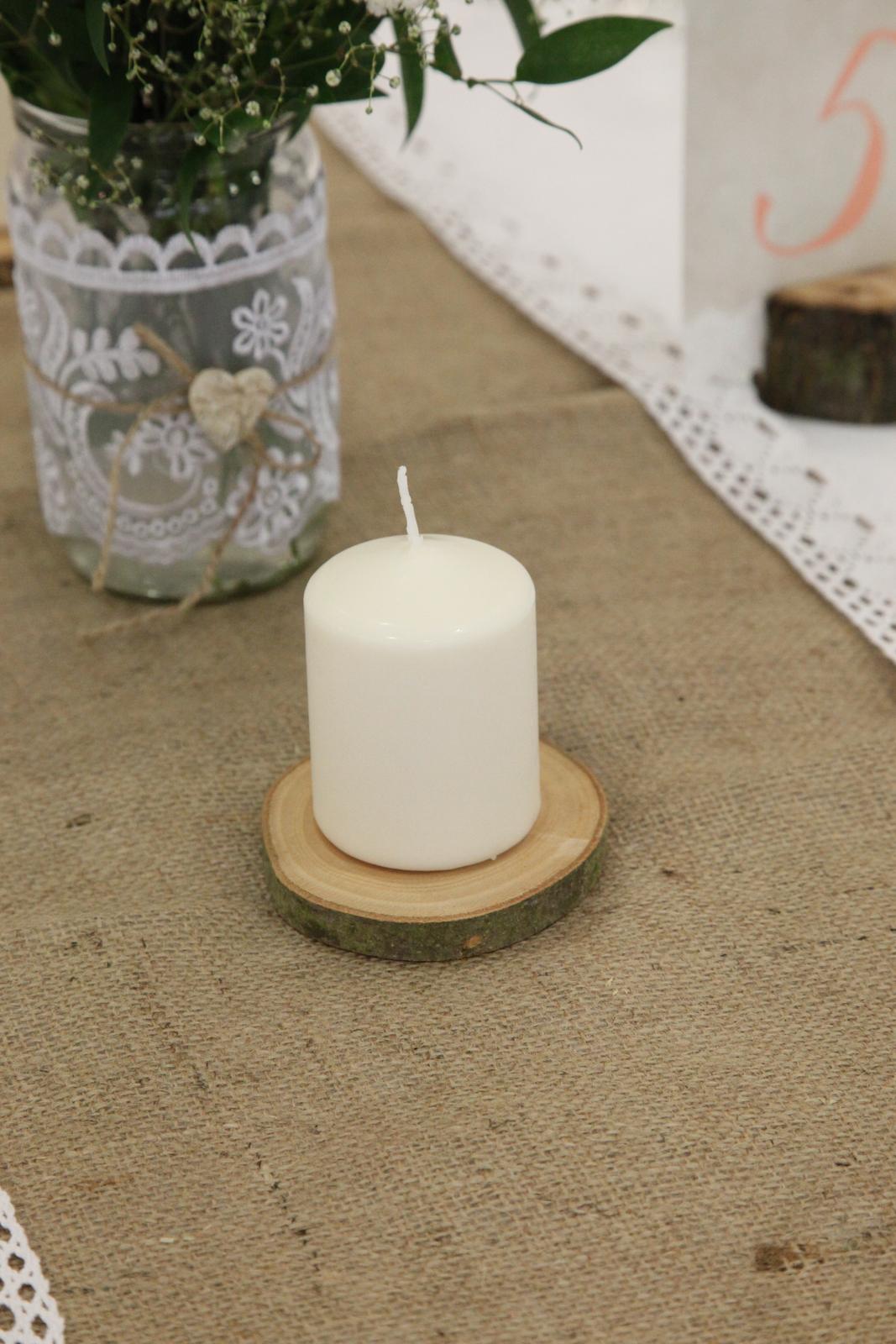 Drevený plát pod sviečku - Obrázok č. 1