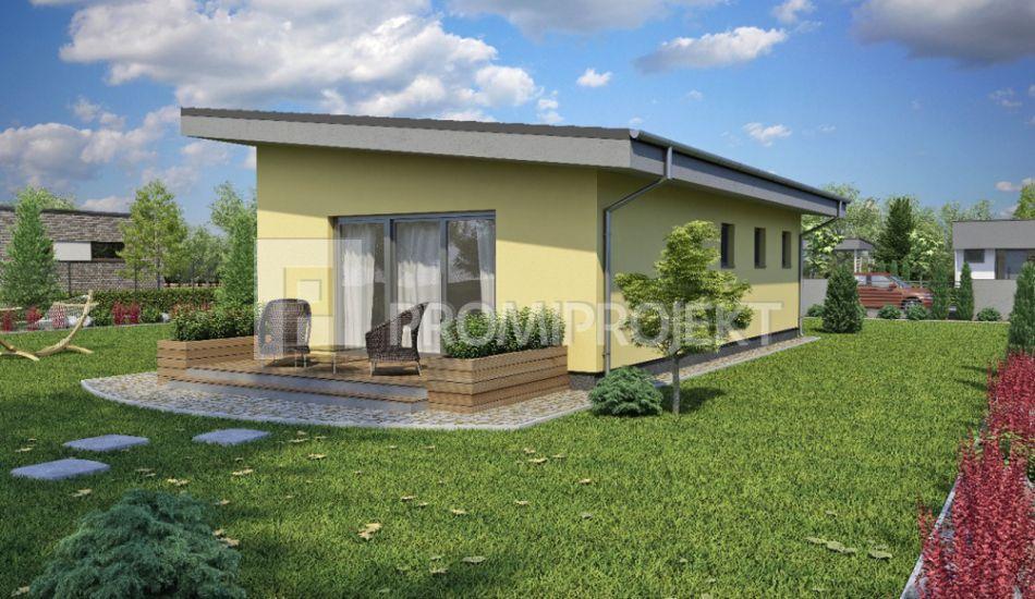 Úsporný prízemný rodinný dom bungalov - Laguna 5 - Laguna 5 www.promiprojekt.sk
