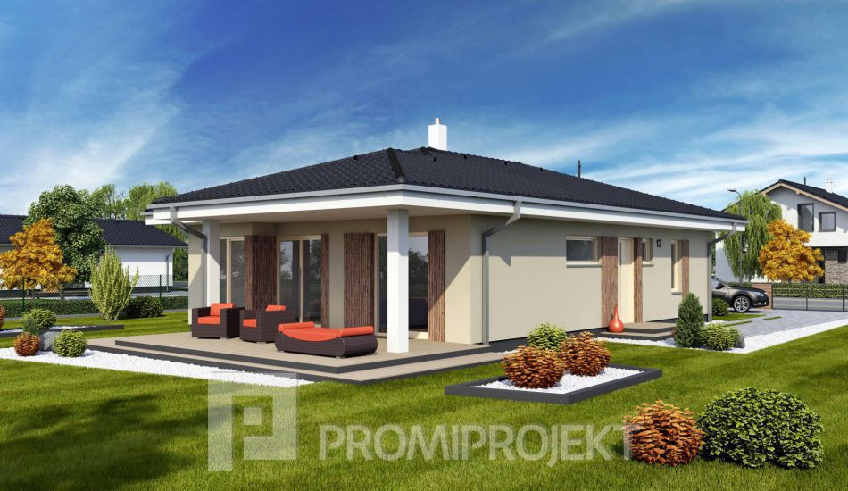 Ultranízkoenergetický prízemný rodinný dom Laguna 12N - Laguna 12N www.promiprojekt.sk