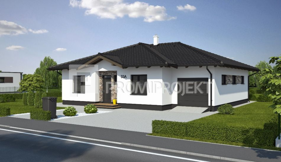 Ultranízkoenergetický prízemný rodinný dom Laguna 33/A - Laguna 33/A www.promiprojekt.sk