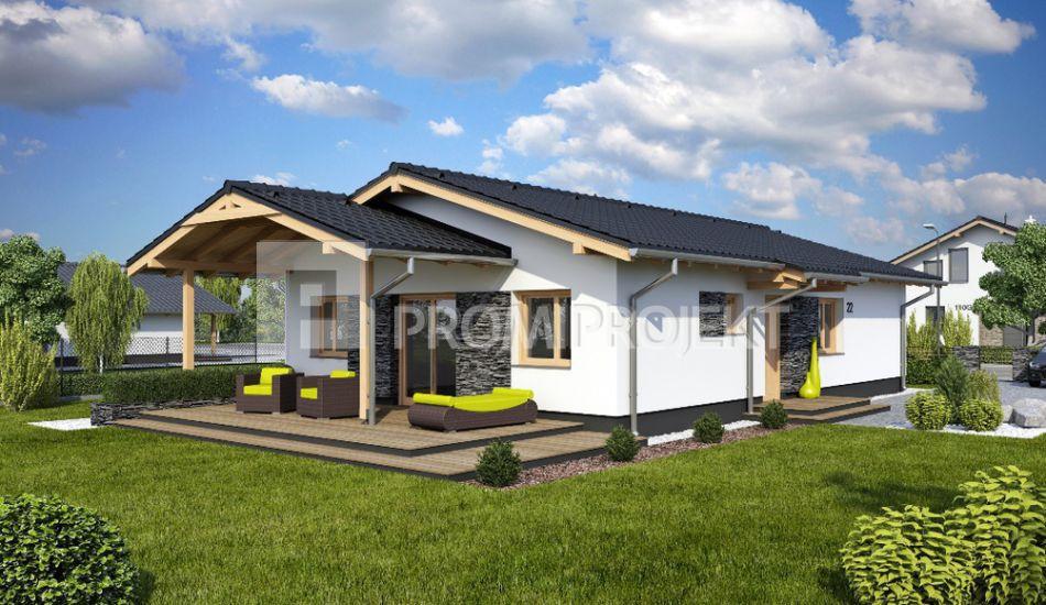 Ultranízkoenergetický prízemný rodinný dom Laguna 22 - Laguna 22 www.promiprojekt.sk