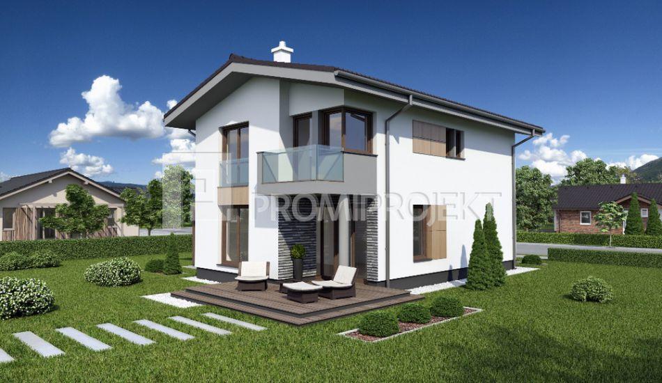 Ultranízkoenergetický dvojpodlažný rodinný dom Štandard 108 - Štandard 108 www.promiprojekt.sk
