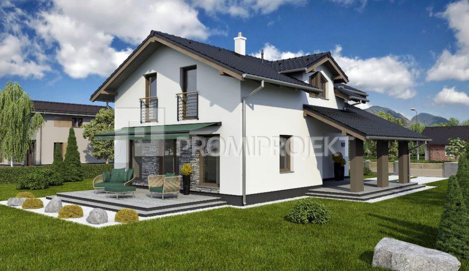 Ultranízkoenergetický dvojpodlažný rodinný dom Štandard 107 - Štandard 107 www.promiprojekt.sk