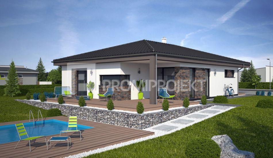 Ultranízkoenergetický prízemný rodinný dom Laguna 420 - Laguna 420  www.promiprojekt.sk