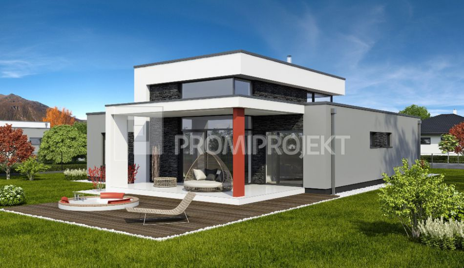 Nadčasový rodinný dom s galériou  Linear 331 - Linear 331 www.promiprojekt.sk