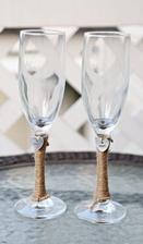 skleničky pro nevěstu a ženicha