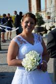 Svatební šaty pro baculky, 44